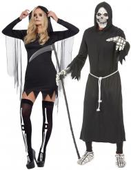 Déguisement de couple faucheur Halloween