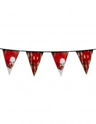 Guirlande en plastique Clown terrifiant 30 cm x 6 m