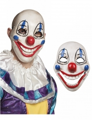 Masque plastique Clown terrifiant adulte