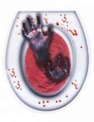 Sticker pour WC mains vivantes 28 x 32 cm