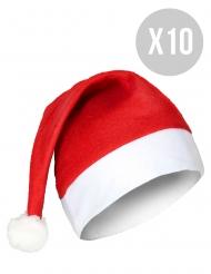 Pack 10 bonnets de Noël standard adulte