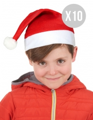 Pack 10 bonnets de Noël enfant
