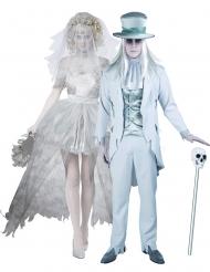 Déguisement de couple marié fantôme Halloween