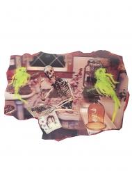 Décoration squelette salle de bain 38 X 27 cm