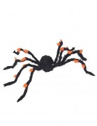 Araignée velue noire et orange 108 cm