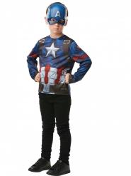 T-shirt avec masque Captain America™ enfant