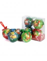 4 Boules de Noël Winnie L