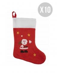 Pack de 10 chaussettes de Noël