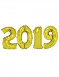 Pack ballons géants 2019 aluminium doré