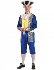 Déguisement marquis homme bleu et or