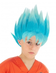 Perruque bleue Goku Saiyan Super Dragon ball™ enfant