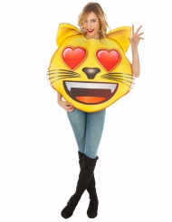 Déguisement Emoji Chat coeur™ adulte