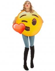 Déguisement Emoji bisou coeur™ adulte