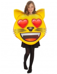 Déguisement Emoji chat coeur™ enfant