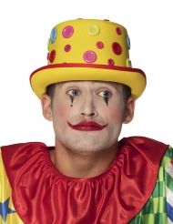 Chapeau clown à boutons adulte