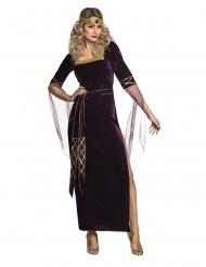 Déguisement lady médiévale violette femme