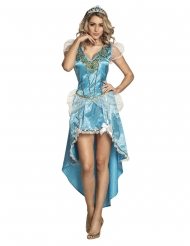 Déguisement princesse enchantée bleue femme