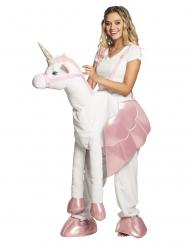 Déguisement femme à dos de licorne adulte