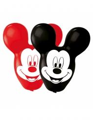 4 Ballons latex Mickey Mouse™ grandes oreilles rouges et noires 55,8 cm