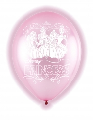 5 Ballons en latex LED Disney Princess™ 28 cm