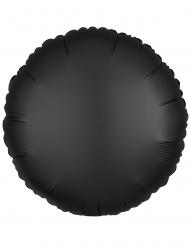 Ballon aluminium rond satin noir 43 cm