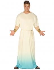Déguisement dieu grec blanc et bleu homme