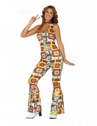 Déguisement combinaison disco géométrique femme