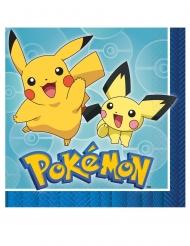 16 Serviettes en papier Pokémon Core™ 33 x 33 cm