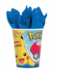 8 Gobelets en carton Pokémon Core™ 266 ml