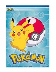 8 Sacs cadeaux en plastique Pokémon™ 17,5 x 20 cm
