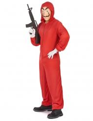 Déguisement et masque de voleur rouge adulte