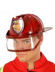 Casque capitaine des pompiers rouge adulte