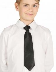 Cravate noire enfant 30 cm