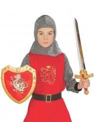 Set bouclier et épée chevalier rouge enfant