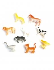 Accessoire pinata animal de la ferme 5 cm