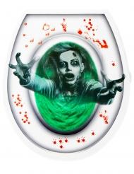 Autocollant abattant WC zombie