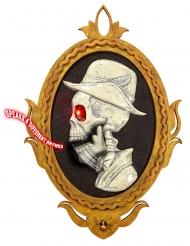 Cadre portrait gentilhomme squelette amovible et lumineux 32 x 48 cm