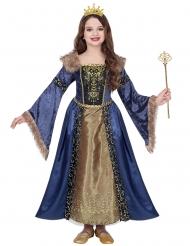 Déguisement reine médiévale hivernale fille
