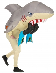 Déguisement gonflable attaque de requin adulte