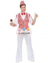 Déguisement vendeur crème glacée homme