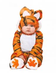 Déguisement combinaison tigre orange et noir bébé