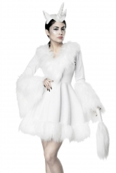 Déguisement robe licorne blanche sexy femme