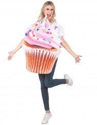 Déguisement cupcake vitaminé rose adulte