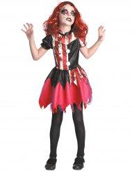 Déguisement clown ensanglanté rouge et noir fille
