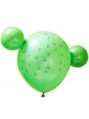 15 Ballons en latex cactus verts 30 et 13 cm