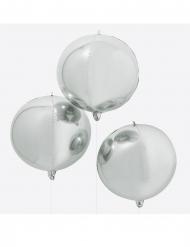 Ballon géant rond argenté métallique 55 cm