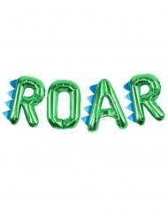 Ballons aluminium lettres ROAR vert métallisé 40 cm