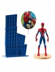 Kit cake toppers en plastique Spiderman™ 8,5 cm