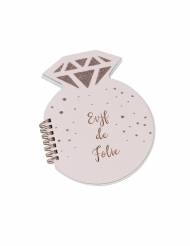 Carnet diamant EVJF de folie rose gold 68 pages 14 x 18 cm