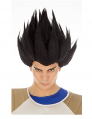 Perruque Vegeta Saiyan noire Dragon Ball™ adulte